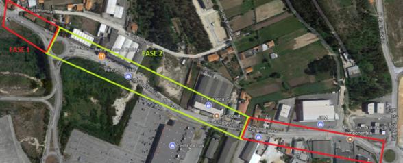 Aveiro: Rua João Francisco Casal com intervenção de fundo ...